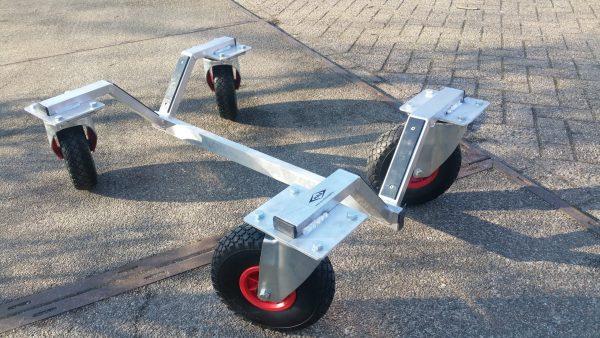 Transporttrolley voetbaldoel