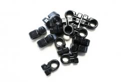 Omega nethaken zwart 10/11mm